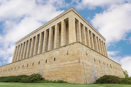 Exterior Shot Of Anitkabir, Mausoleum Of Ataturk, Ankara, Turkey