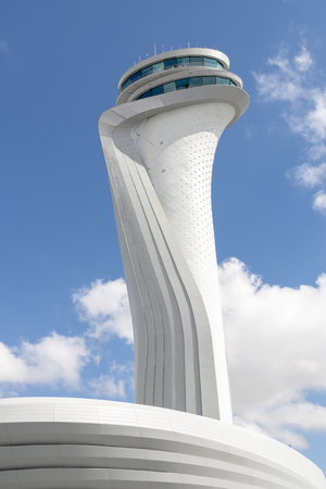 Air traffic control tower of the 3rd airport of Istanbul, Turkey