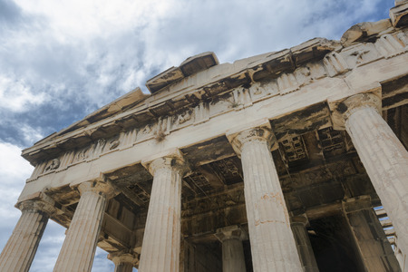 Low Angle View From Temple of Hephaestus, Ancient Agora of Athens, Greece