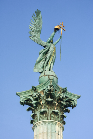 Archangel Gabriel, who holds the Hungarian, is the best of the world. Hungary.