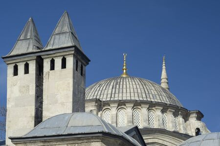 Exterior Detail From Nuruosmaniye Mosque, Istanbul, Turkey Banque d'images