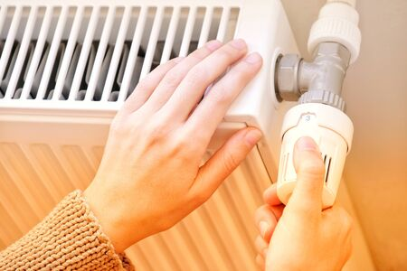 Checking The Temperature Of A Heating Radiator