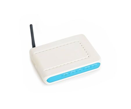 Adsl Modem Isolated On White Background Banco de Imagens