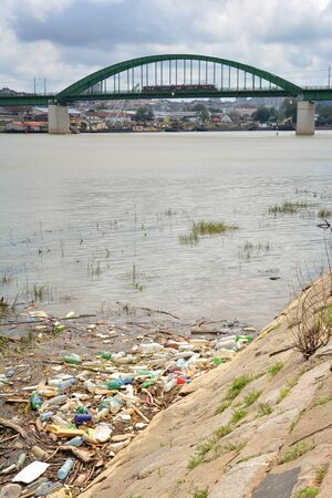 Water Pollution At Sava River, Belgrade, Serbia