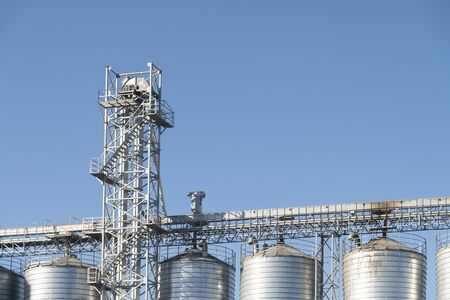 Steel Industrial Silos With A Platform