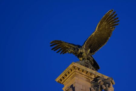 Detail From The Eagle Statue At Buda Castle, Budapest, Hungary