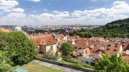 Panoramic View Of Rooftops From Prague, Czech Republic