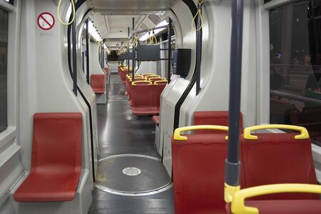 Empty Subway Train From Vienna, Austria