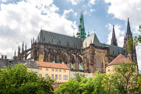 Exterior Shot Of Prague Castle, Prague, Czech Republic
