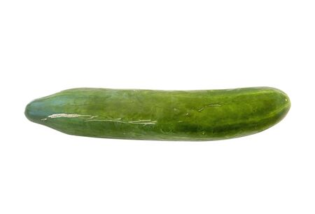 Huge Green Cucumber Isolated On White Background Banco de Imagens