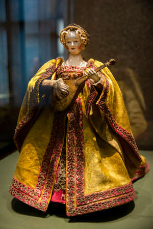 Automaton, so-called Cittern Player from Kunsthistorisches Museum (Museum of Art History) an art museum in Vienna, Austria.