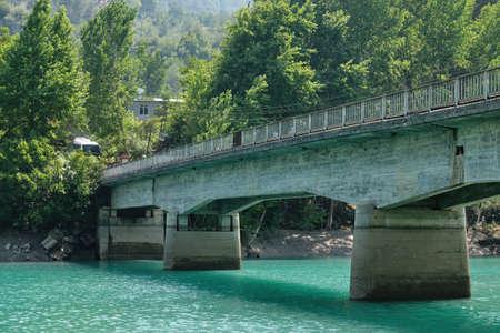 Bridge Detail From Kadıncık Hydroelectric Power Plant, Mersin, Turkey Stock Photo