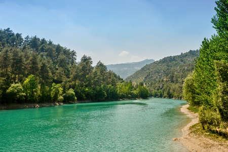 Dam Reservoir From Kadincik Hydroelectric Power Plant, Mersin Turkey