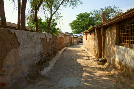 Chinese ancient village street view Stockfoto