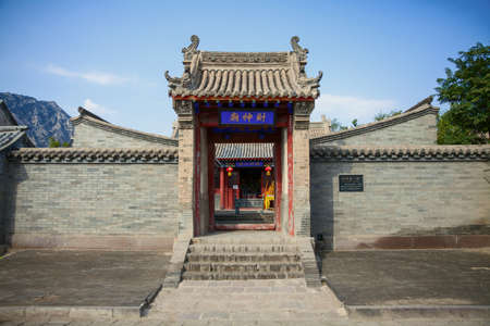 Chinese wealth god Temple at ming dynasty