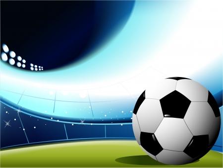 football silhouette: Calcio sfondo astratto Vettoriali