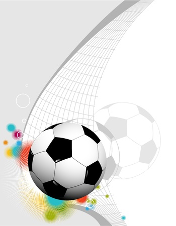 football silhouette: Abstract football background  Illustration