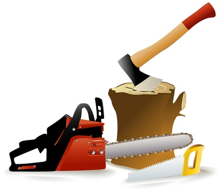 Woodcutter s tools Vector