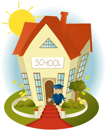 Happy school Stock Vector - 14020124
