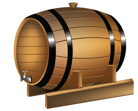 wine barrel: Barrel of wine