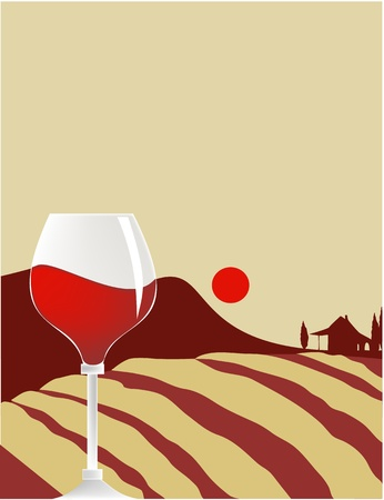 food and wine: Wine glass Illustration