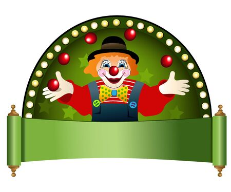Clown with red balls Vector