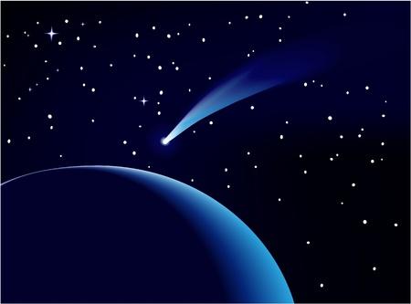Blue comet  Vector