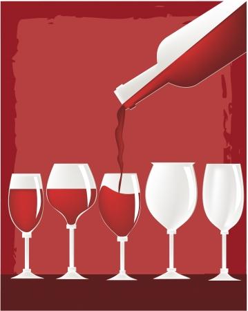 wine tasting: Wine glasses