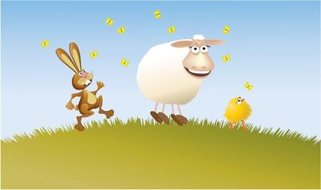Easter team  Vector