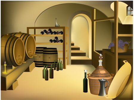 wine cellar: Wine cellar