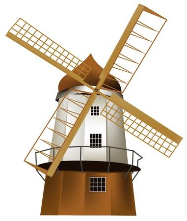 windmill: Molino de viento Vectores