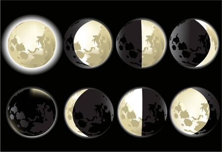 phases: Moon phases  Illustration