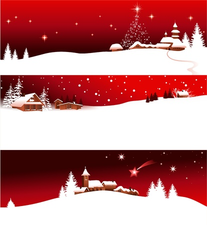 panoramic landscape: Christmas banners