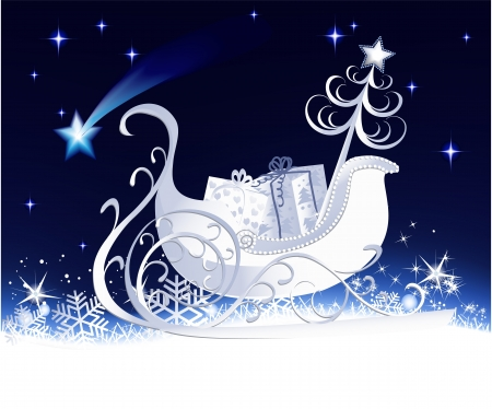 Christmas sleigh  Stock Vector - 14020210