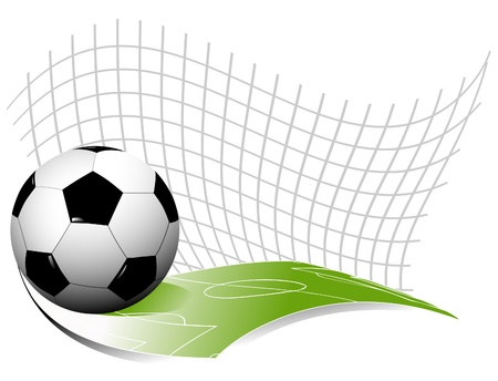 football silhouette: Abstract background di calcio