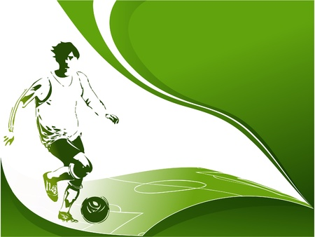 Football background with player Vector
