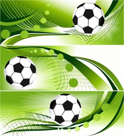 抽象的なサッカー バナー - スポーツの背景
