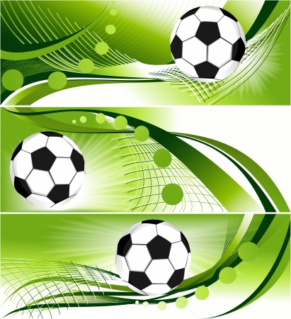 Abstract football banners - sport backgrounds  Vector
