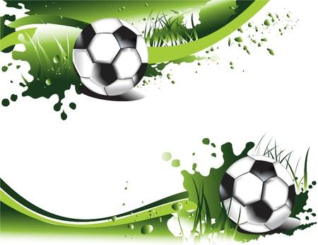 bannière football: Bannières de football grunge