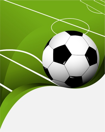 Abstract football background with playing field  Vector