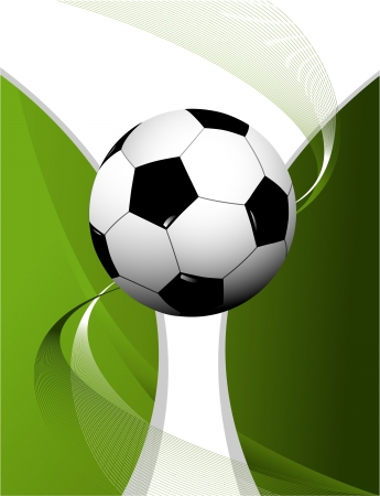 Abstract football background with cup  Illustration