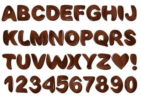 cute chocolate: Chocolate alphabet