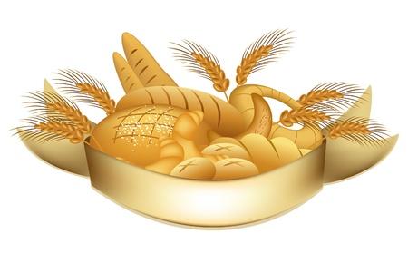 bułka maślana: Produkty firmy piekarni Ilustracja