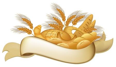 produits céréaliers: Boulangerie les produits Illustration