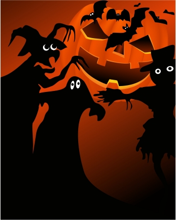 Halloween background  Stock Vector - 14093998