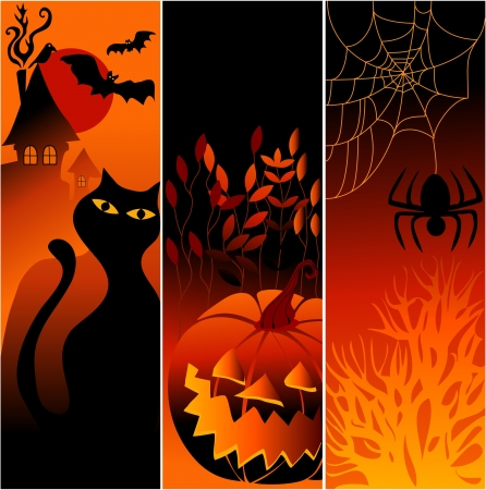 Three Halloween banners Stock Vector - 14093997