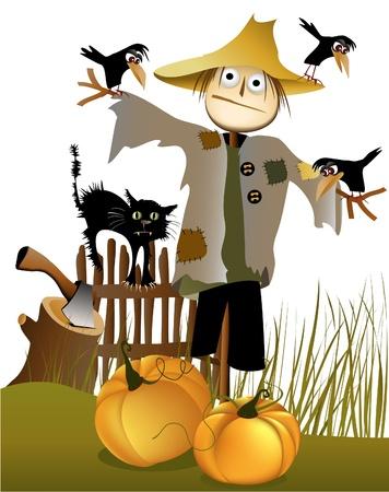 scarecrow: Halloween scarecrow