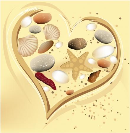 shell pattern: Holiday sand heart