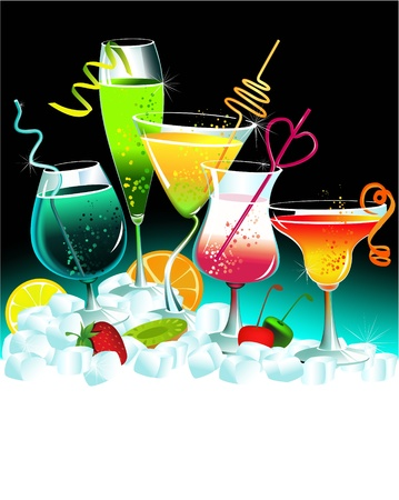 drink party: Set di bevande