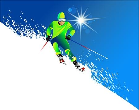 Skier Stock Vector - 14180331